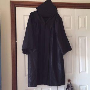 Black Graduation Cap & Gown